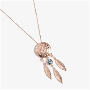 Dream Catcher Aquamarine Swarovski Kolye