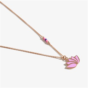 Mor Pure Love Lotus Rose Gold  Kolye